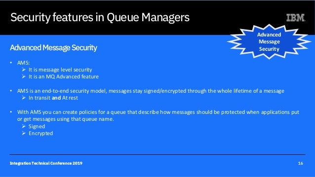 M11 - Securing your MQ environment  Integration technical