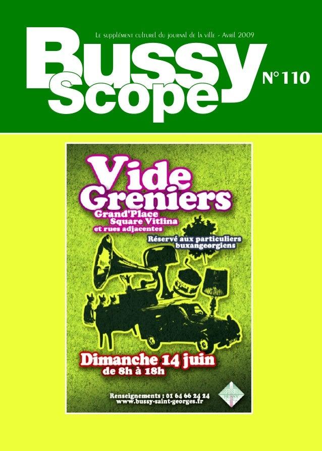 Bussy Le supplément culturel du journal de la ville - Avril 2009                                                          ...
