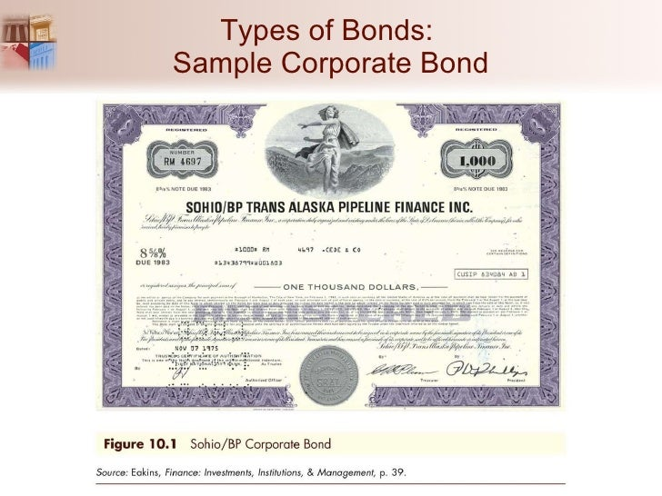 Chapter 10 the bond market for Corporate bond certificate template