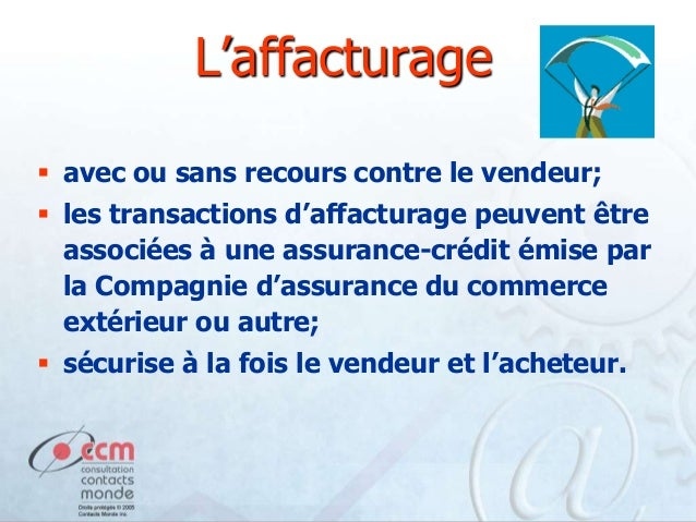 M12 moyens de paiement for Compagnie francaise d assurance pour le commerce exterieur
