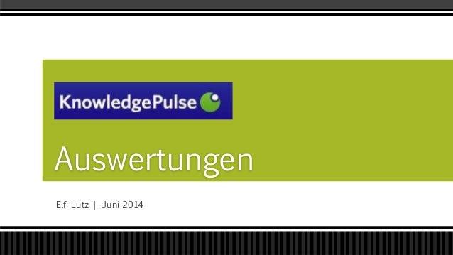 Elfi Lutz | Juni 2014 Auswertungen