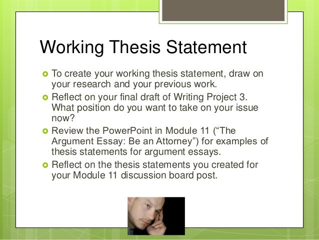 Working thesis example 894461