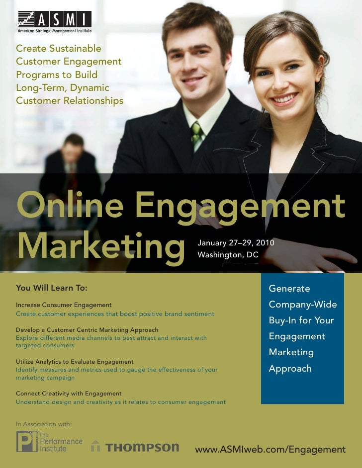 Online Engagement Marketing  Create Sustainable Customer Engagement Programs to Build Long-Term, Dynamic Customer Relation...