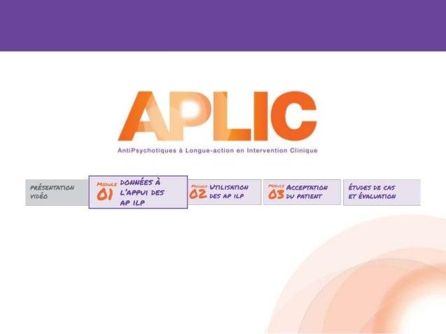 Antipsychotiques ILP disponibles au Canada Première génération • Décanoate de fluphénazine • Décanoate de flupenthixol • D...