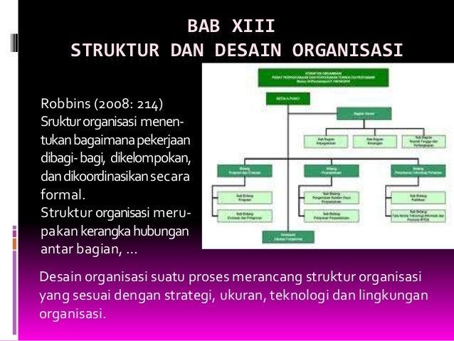 M14 desain struktur organisasi