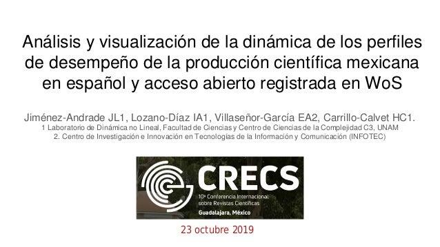 An�lisis y visualizaci�n de la din�mica de los perfiles de desempe�o de la producci�n cient�fica mexicana en espa�ol y acc...