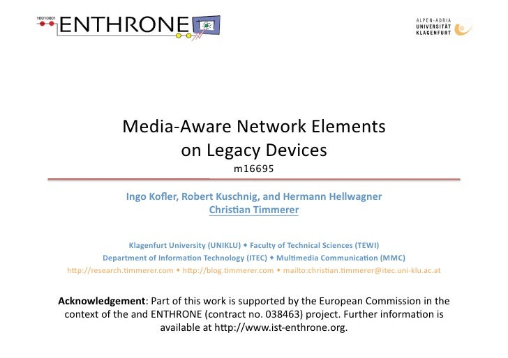 Media‐AwareNetworkElements                      onLegacyDevices                                            m16695 ...