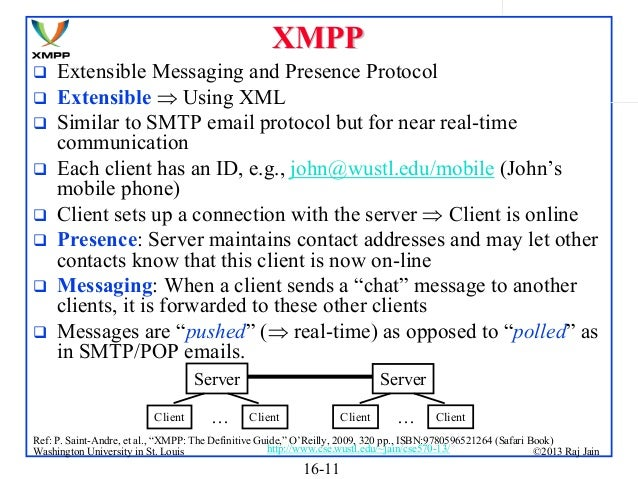 Extensible Messaging And Presence Protocol : Introduction to software defined networking sdn