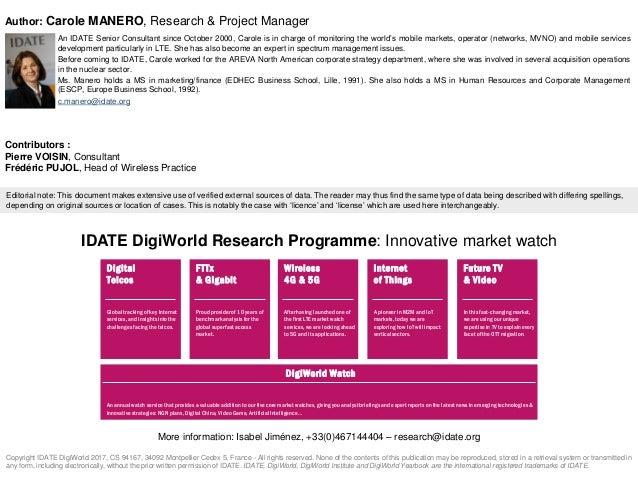 IDATE DigiWorld - From LTE to 5G keypoints Slide 2