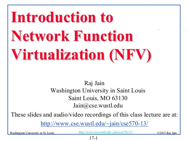 Introduction to Network Function Virtualization (NFV)