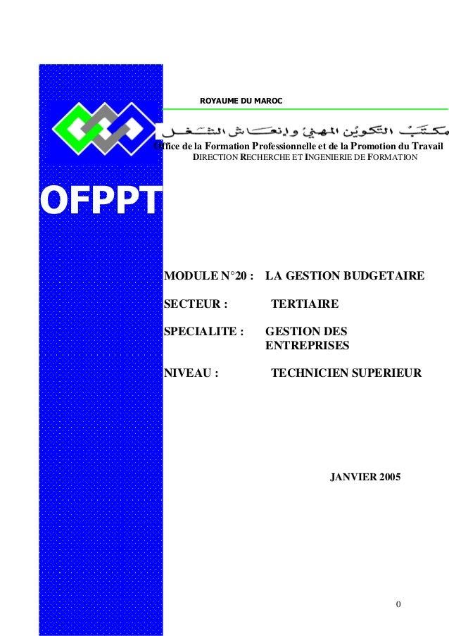 ROYAUME DU MAROC    Office de la Formation Professionnelle et de la Promotion du Travail             DIRECTION RECHERCHE E...