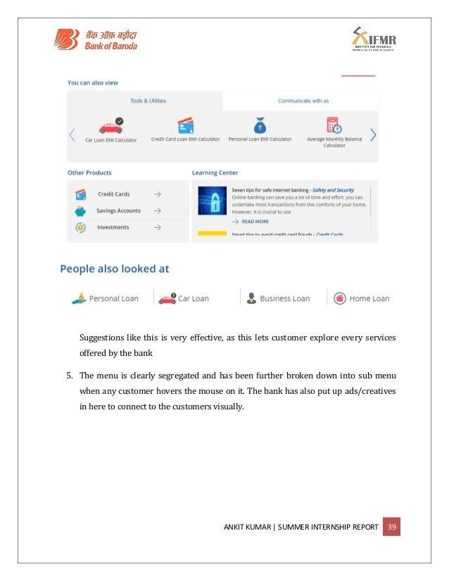 Bank of Baroda- Summer Internship Report