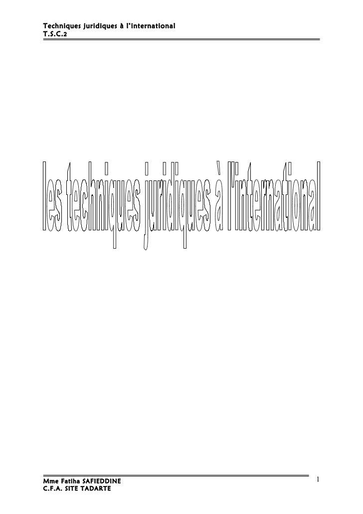 M19   techniques juridiques a l'internationalter-tsc