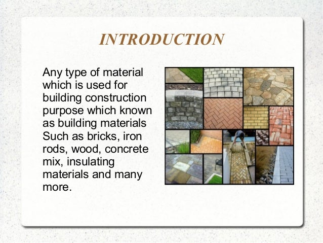 Types Of Building Materials