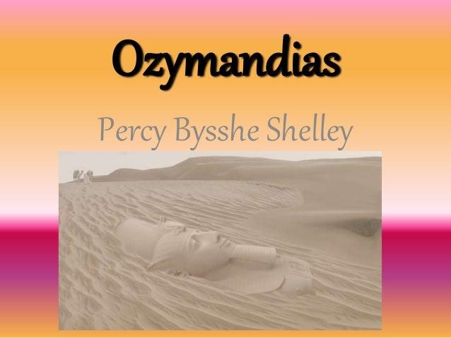 Ozymandias Percy Bysshe Shelley