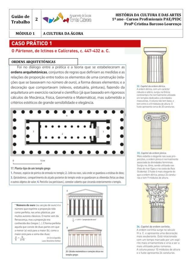 Guião de Trabalho 2 HISTÓRIA DA CULTURA E DAS ARTES 1º ano - Cursos Profissionais PAE/PIDC Profª Cristina Barcoso Lourenço...
