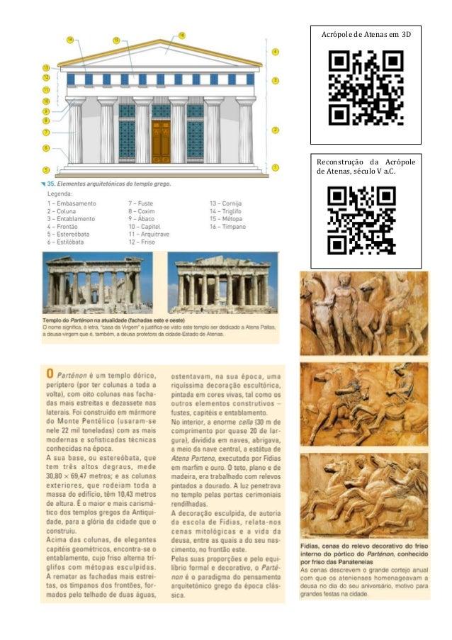 Acrópole de Atenas em 3D Reconstrução da Acrópole de Atenas, século V a.C.