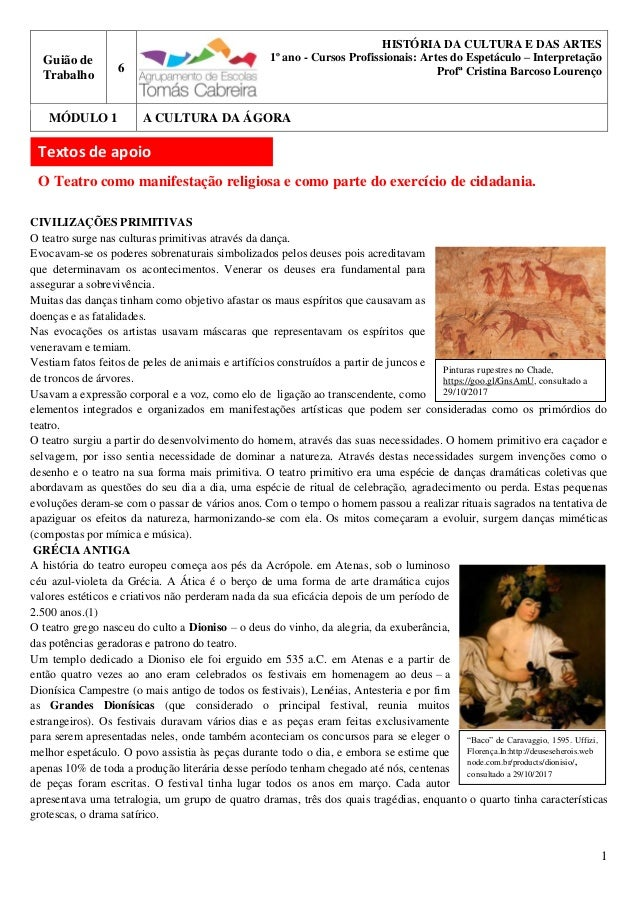 1 Pinturas rupestres no Chade, https://goo.gl/GnsAmU, consultado a 29/10/2017 Guião de Trabalho 6 HISTÓRIA DA CULTURA E DA...