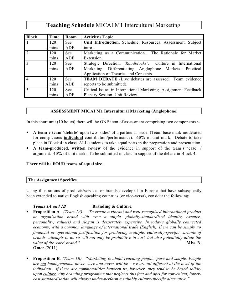 Teaching Schedule MICAI M1 Intercultural Marketing Block        Time     Room      Activity / Topic 1            120      ...