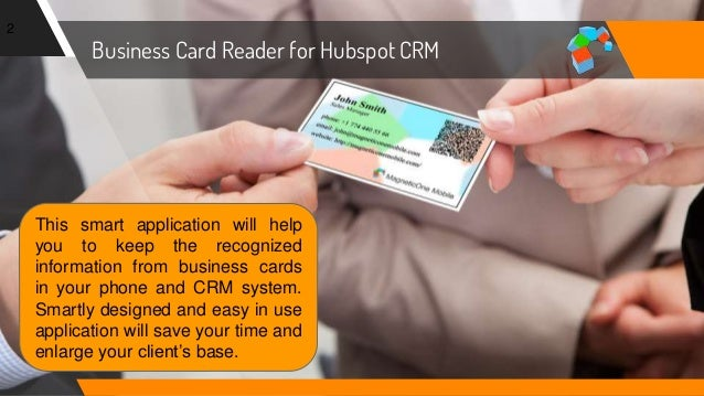 How to scan business cards into hubspot crm business colourmoves