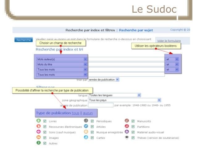 23/10/14  Service commun de la documentation  18  Le Sudoc