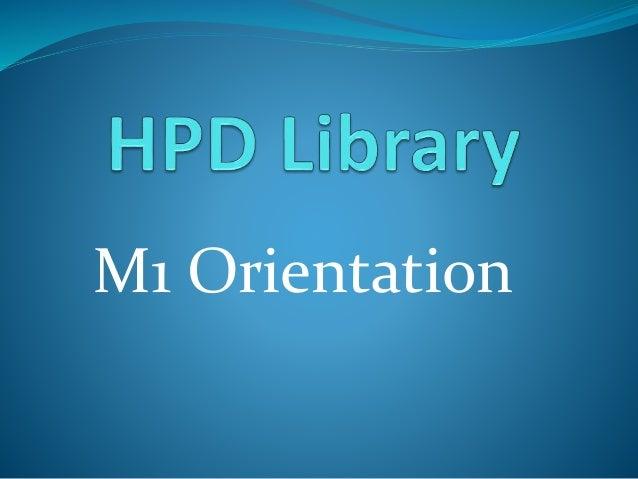 M1 Orientation