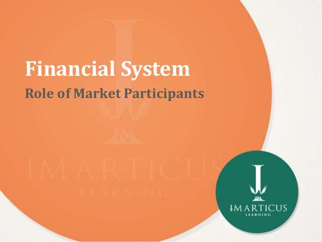 roles played by the financial market Role of financial system in economic development of a country  government securities market financial system enables the state and central governments to raise.