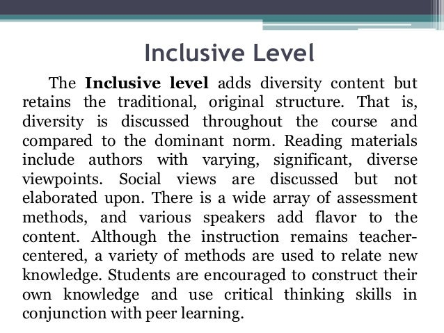 unit 6 curriculum development for inclusive Development of inclusive practice working with learners' differences curriculum was introduced in 1988 to which all inclusive learning in practice 6.