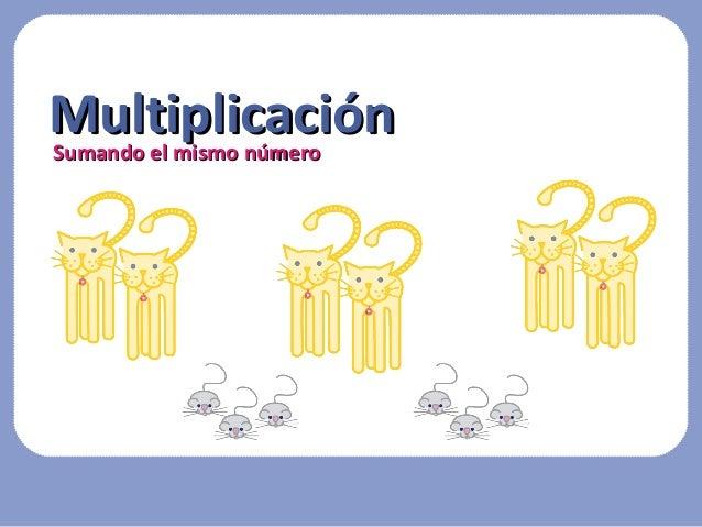 Sumando el mismo númeroSumando el mismo número MultiplicaciónMultiplicación