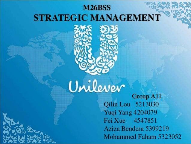 M26BSS STRATEGIC MANAGEMENT Group A11 Qilin Lou 5213030 Yuqi Yang 4204079 Fei Xue 4547851 Aziza Bendera 5399219 Mohammed F...