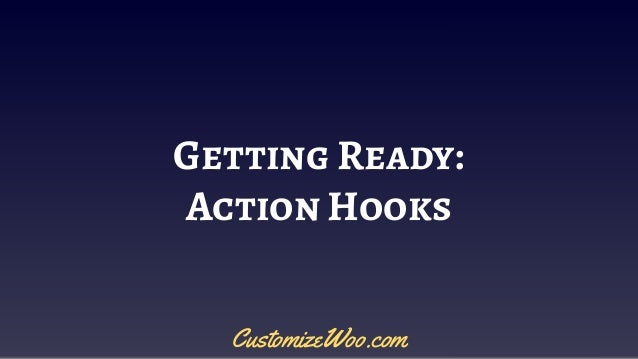 Getting Ready: Action Hooks CustomizeWoo.com