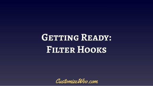 Getting Ready: Filter Hooks CustomizeWoo.com
