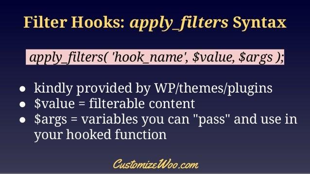 WooCommerce: Filter Hooks
