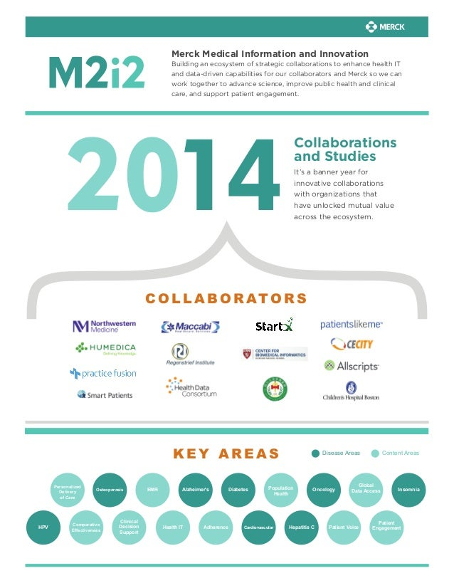 Merck Medical Information and Innovation Building an ecosystem of strategic collaborations to enhance health IT and data-d...