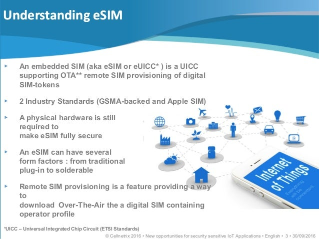 Embedded SIM New opportunities for security sensitive IoT