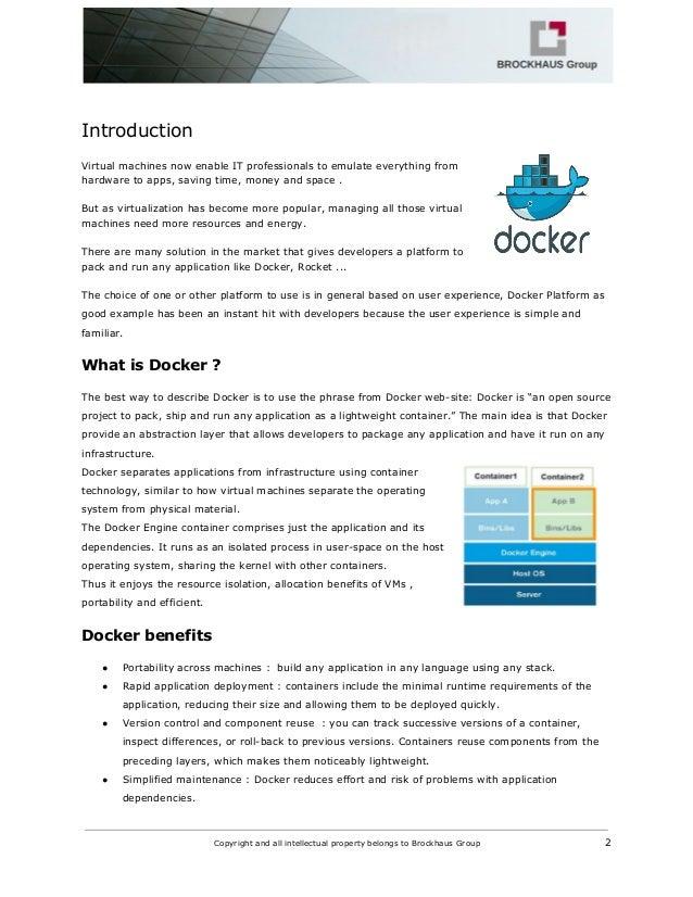 M2M infrastructure using Docker Slide 3