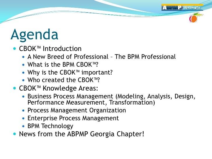 Introduciton to ABPMP BPM Common Body of Knowledge (CBOK) Slide 2