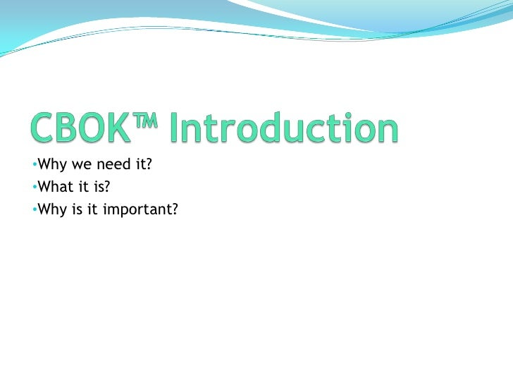Introduciton to ABPMP BPM Common Body of Knowledge (CBOK) Slide 3