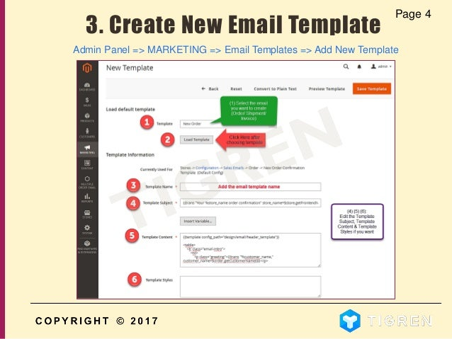 User guide how to create multiple custom order email templates in m template 6 maxwellsz