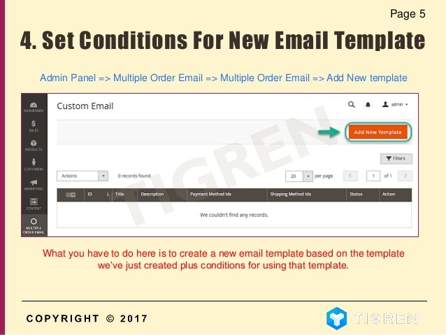 User Guide How To Create Multiple Custom Order Email Templates In M