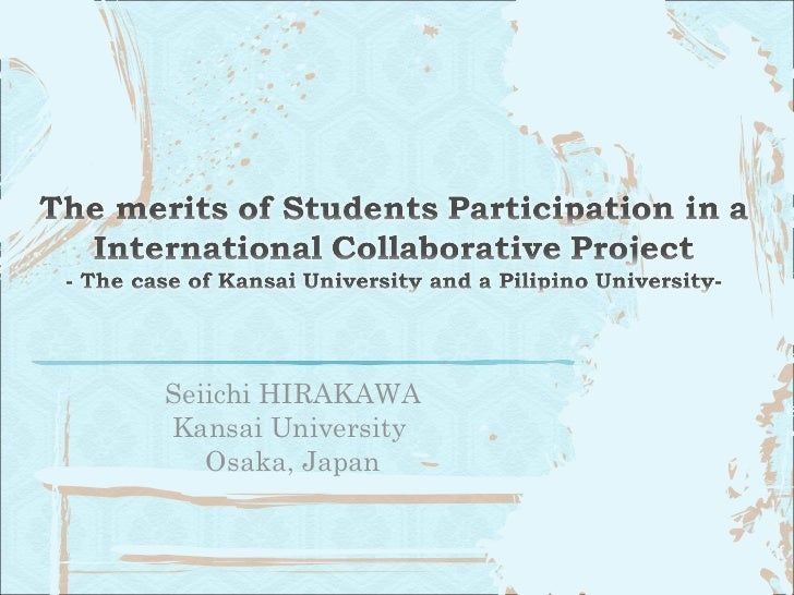 Seiichi HIRAKAWA Kansai University  Osaka, Japan