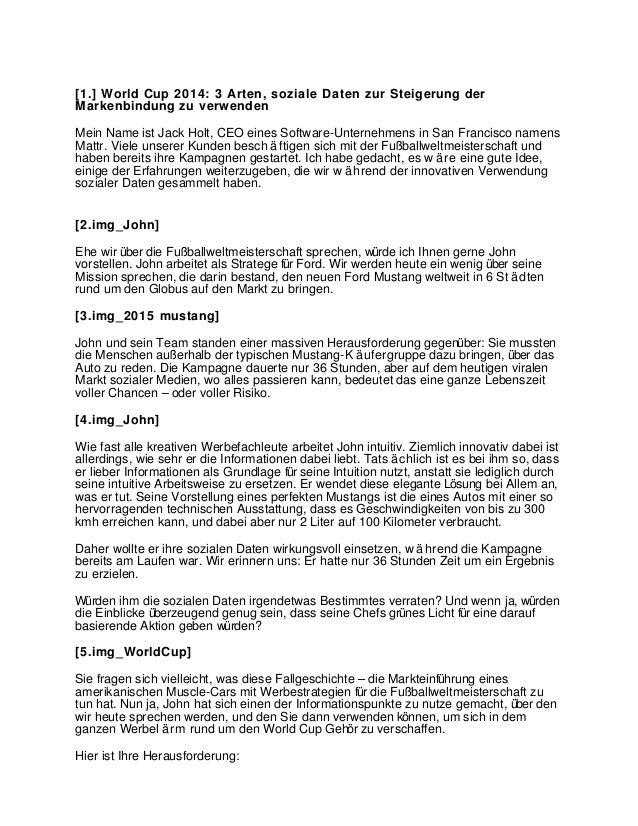 [1.] World Cup 2014: 3 Arten, soziale Daten zur Steigerung der Markenbindung zu verwenden Mein Name ist Jack Holt, CEO ein...