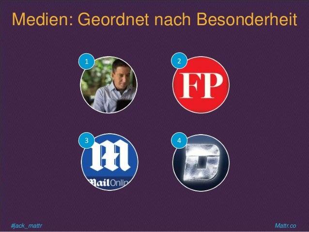 #jack_mattr Mattr.co Medien: Geordnet nach Besonderheit 1 4 2 3