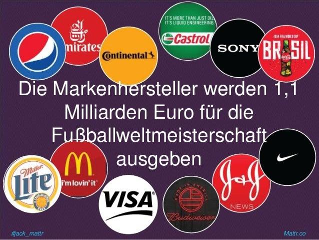 #jack_mattr Mattr.co Die Markenhersteller werden 1,1 Milliarden Euro für die Fußballweltmeisterschaft ausgeben