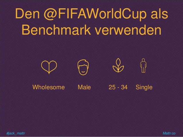 #jack_mattr Mattr.co Den @FIFAWorldCup als Benchmark verwenden Wholesome Male Single25 - 34