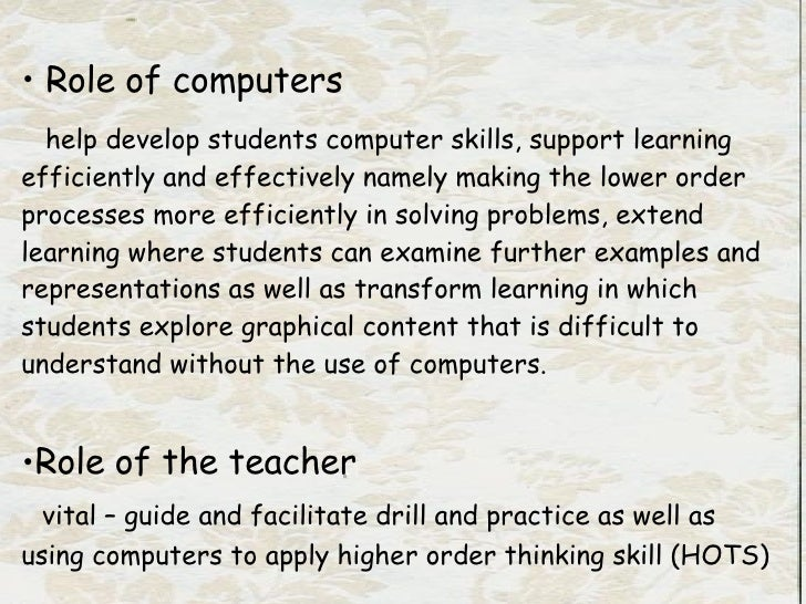use of computers in teaching and learning of mathematics