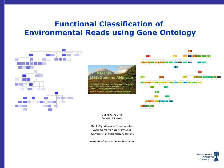 Functional Classification of Environmental Reads using Gene Ontology                            Daniel C. Richter         ...