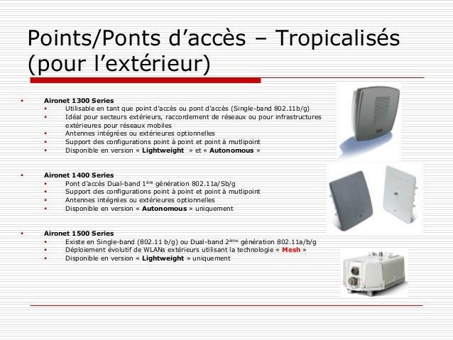 Points/Ponts d'accès – Tropicalisés (pour l'extérieur)  Aironet 1300 Series  Utilisable en tant que point d'accès ou pon...