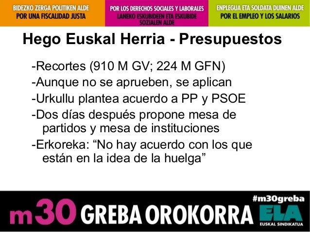 Hego Euskal Herria - Presupuestos-Recortes (910 M GV; 224 M GFN)-Aunque no se aprueben, se aplican-Urkullu plantea acuerdo...