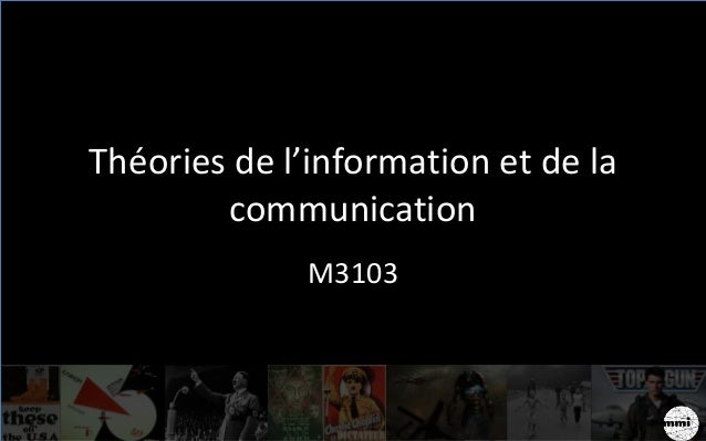Théories de l'information et de la communication M3103
